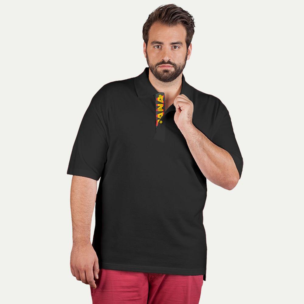 Superior polo shirt fan spain plus size men for Plus size golf polo shirts