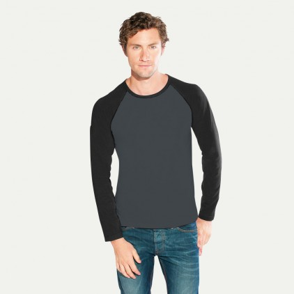 T-Shirt Manche Longue Raglan Baseball Homme Sale