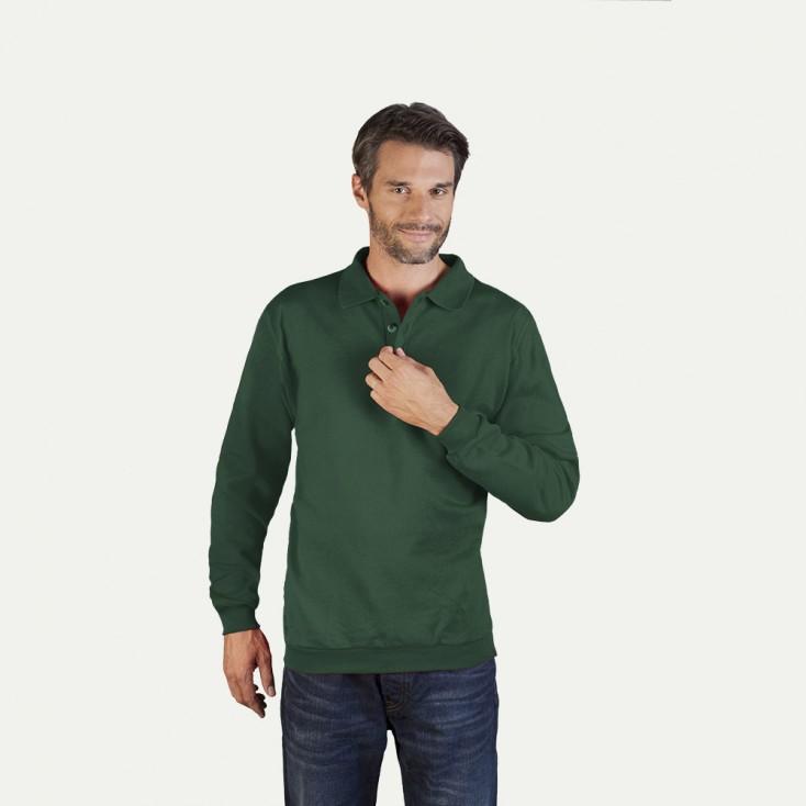 Langarm-Polo-Sweatshirt Herren Sale