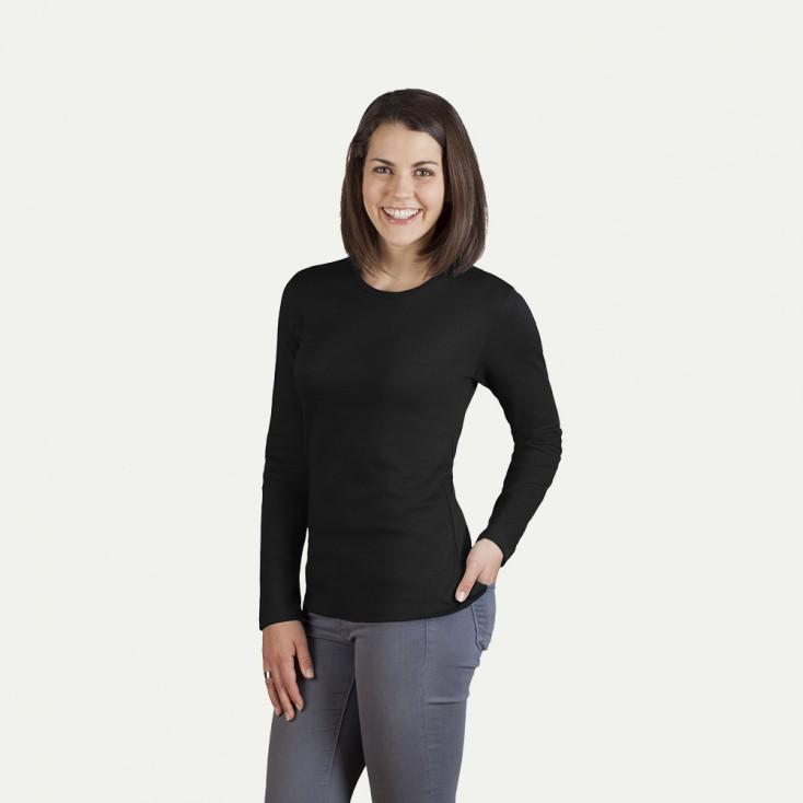 T-shirt interlock manches longues Femmes promotion