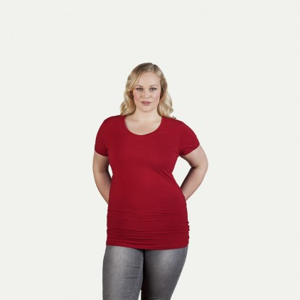 Slim Fit V-Neck T-shirt Long