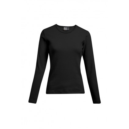 T-shirt interlock manches longues grande taille Femmes pomotion