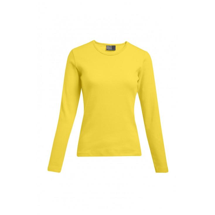 T-shirt interlock manches longues grande taille Femmes pomotion