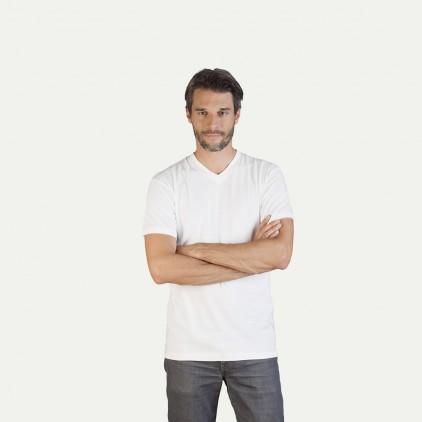 T-shirt col V en jersey coton