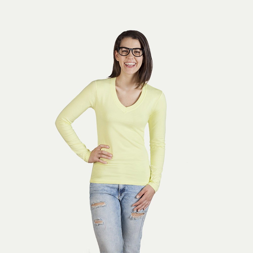 Long sleeve v neck t shirt for Thick v neck t shirts