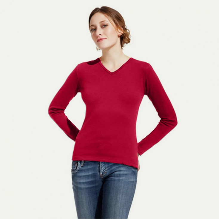 Women's Interlock V-Neck-T LS