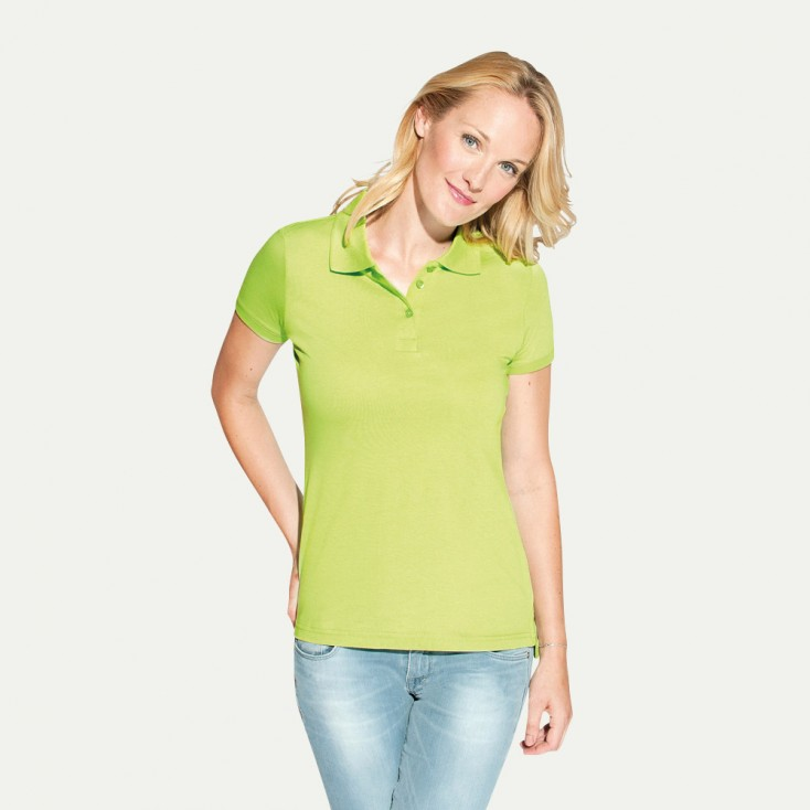 Single-Jersey Poloshirt Damen Sale