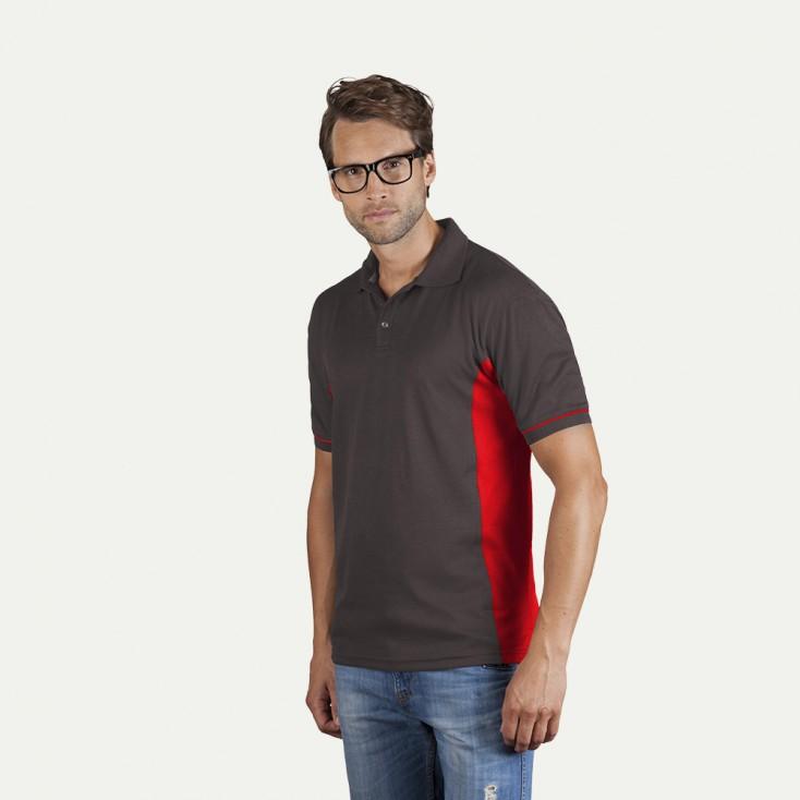 Funktions Kontrast Poloshirt Herren Sale