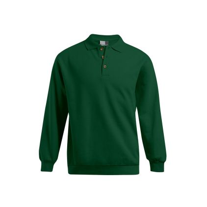 Polo sweat manches longues grande taille Hommes promotion