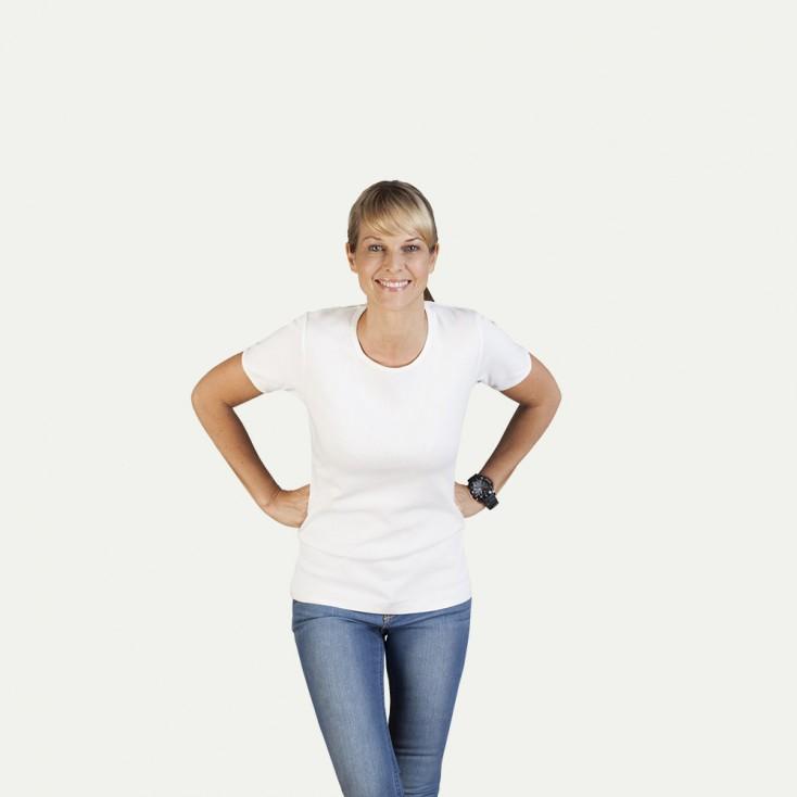 T-shirt côtelé femme