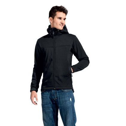 Veste softshell capuche homme