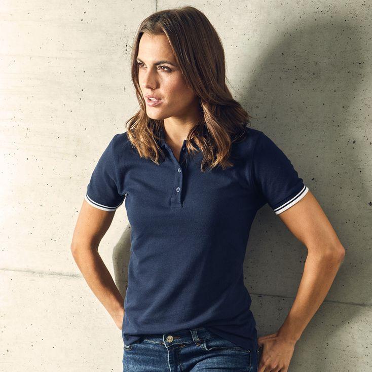 Contrast Stripes Polo shirt Women