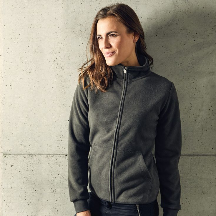 Doppel-Fleece Jacke Damen