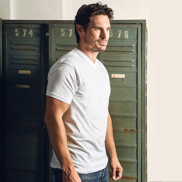 T-shirt Basic Col V Hommes