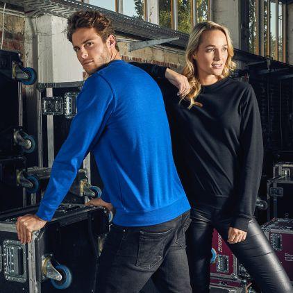 Unisex Interlock Sweatshirt Damen und Herren