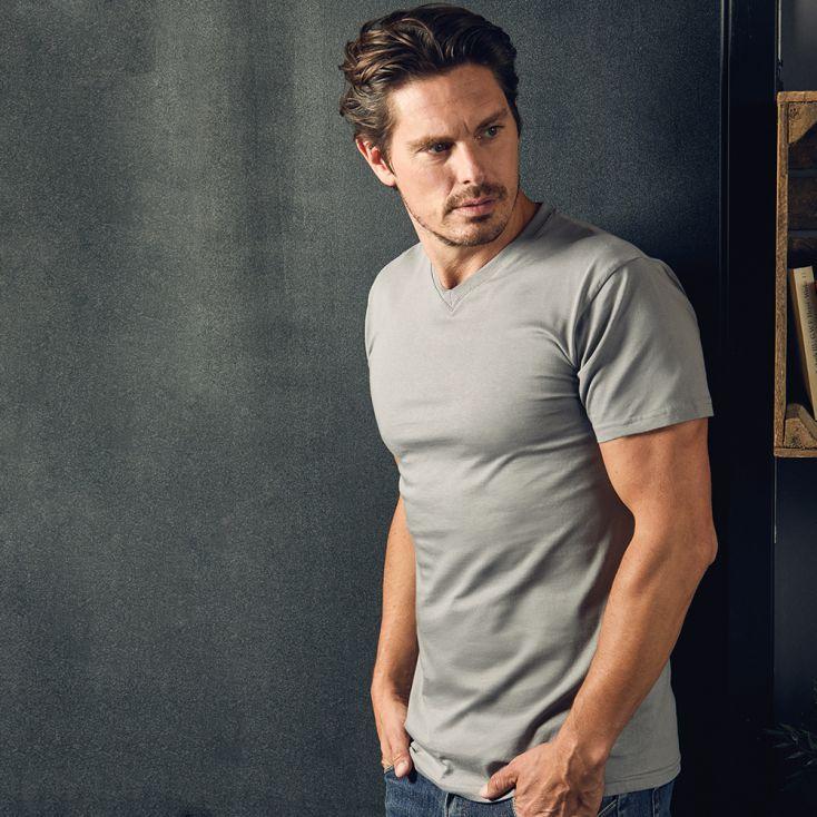 Premium V-Ausschnitt T-Shirt Herren