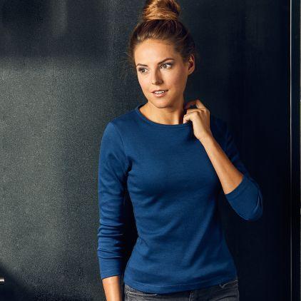 T-shirt interlock manches longues Femmes