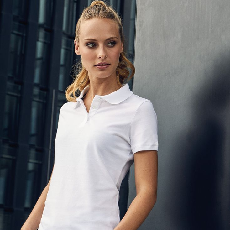 Single-Jersey Poloshirt Damen