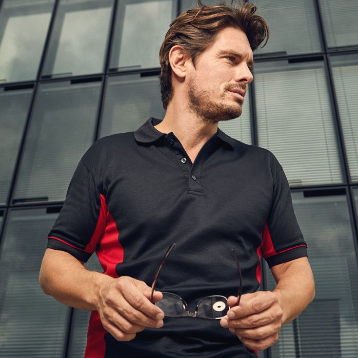 Polo Performance contrasté homme