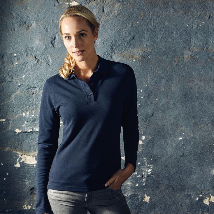 Heavy Longsleeve Polo shirt Women