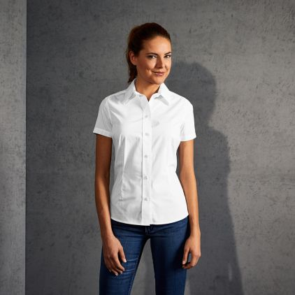 Business Kurzarm-Bluse Damen