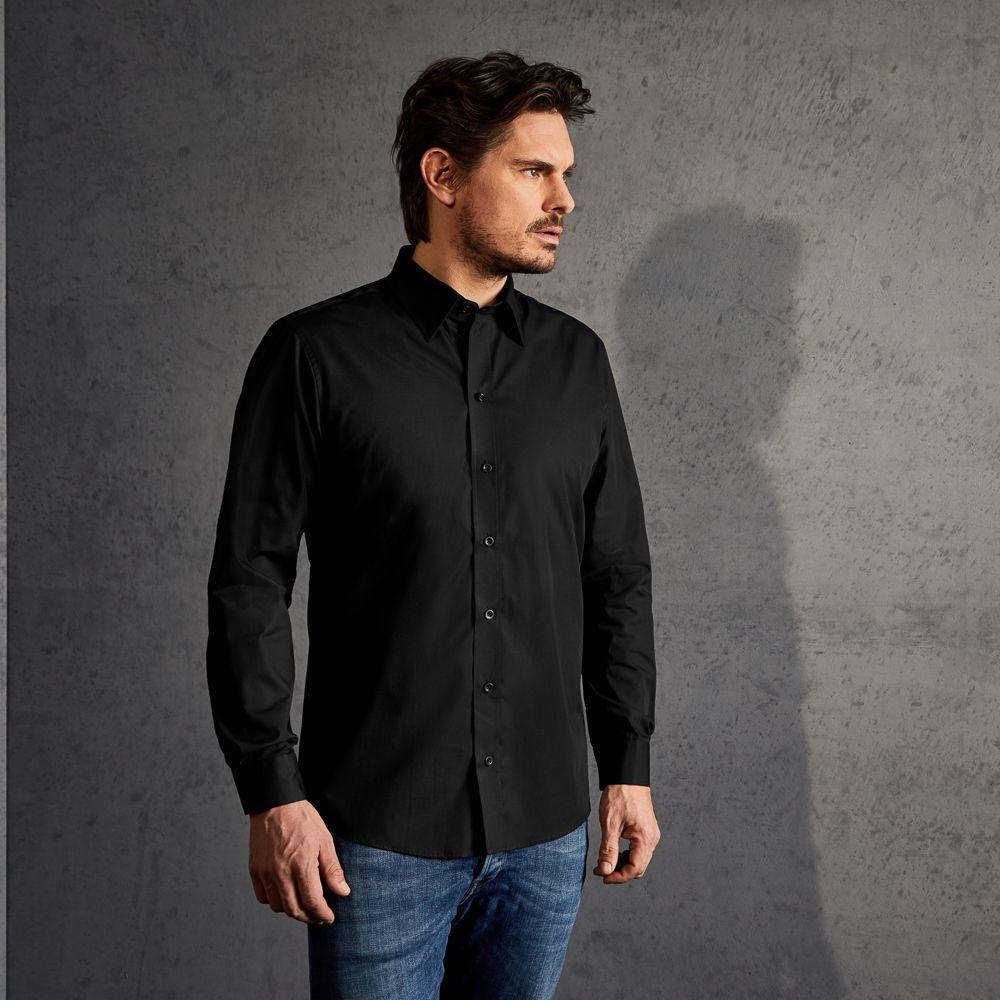 chemise en popeline homme manches longues. Black Bedroom Furniture Sets. Home Design Ideas