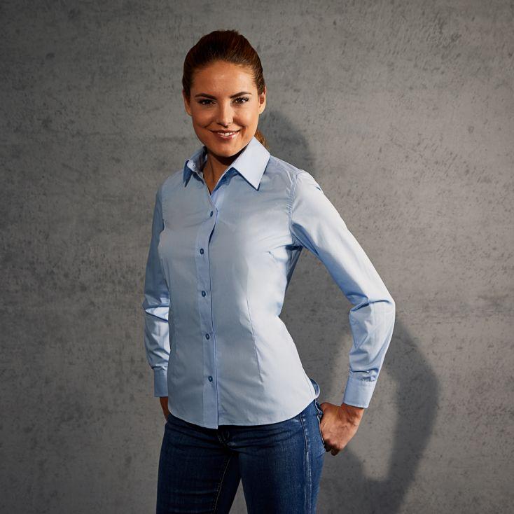 Business Langarm-Bluse Damen