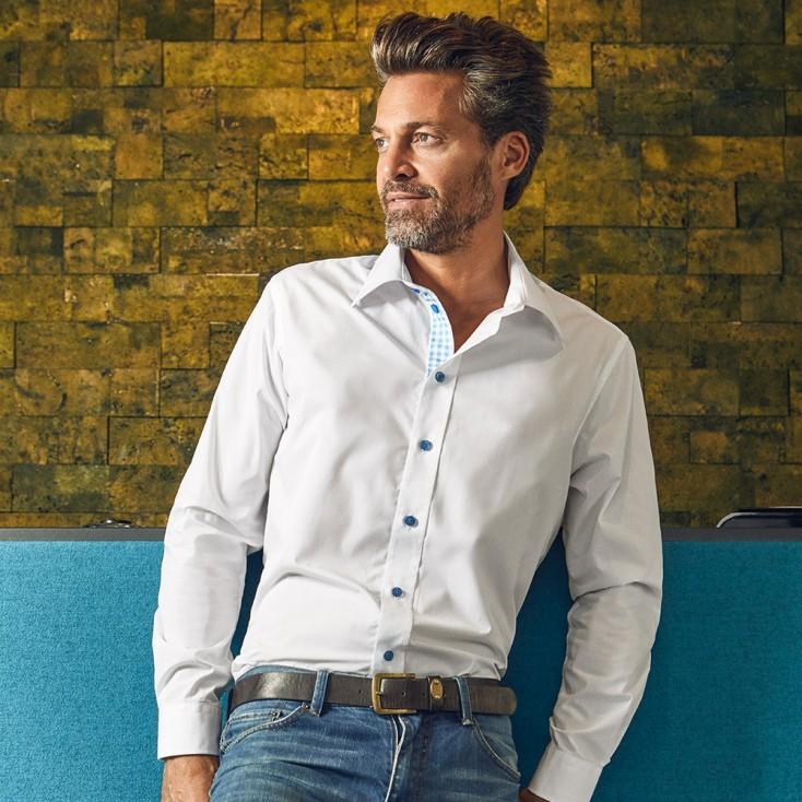 Business Langarm-Hemd Graphic Herren