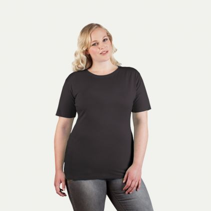 Premium T-Shirt Workwear Plus Size Damen