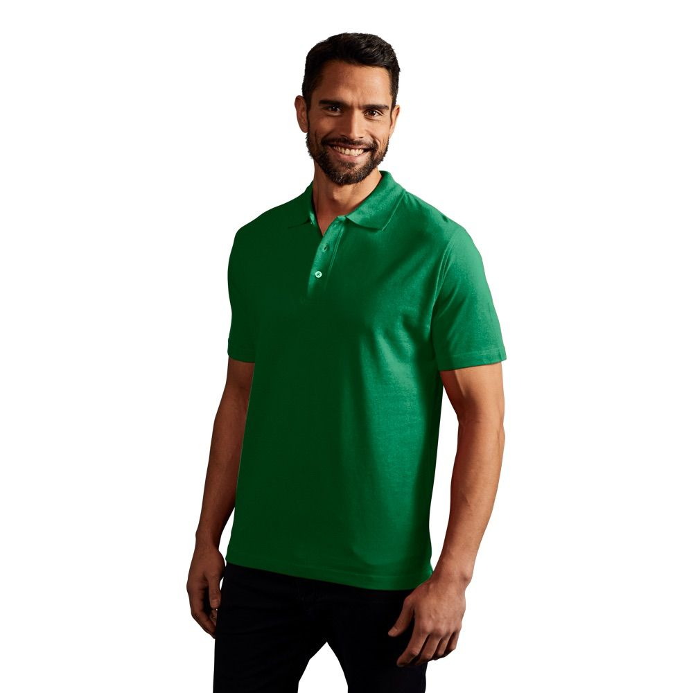 Polo supérieur Hommes, M, vert lime sauvage