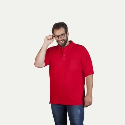 Heavy Poloshirt mit Brusttasche Workwear Plus Size Herren