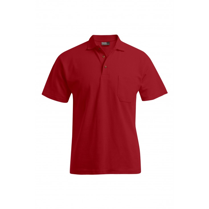 Polo épais poche workwear grande taille Hommes