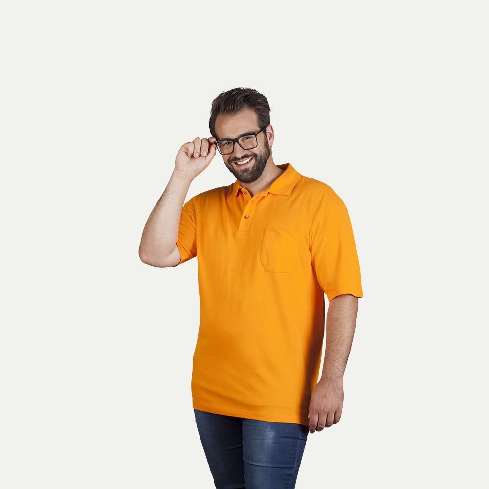 Polo épais poche grande taille Hommes, orange