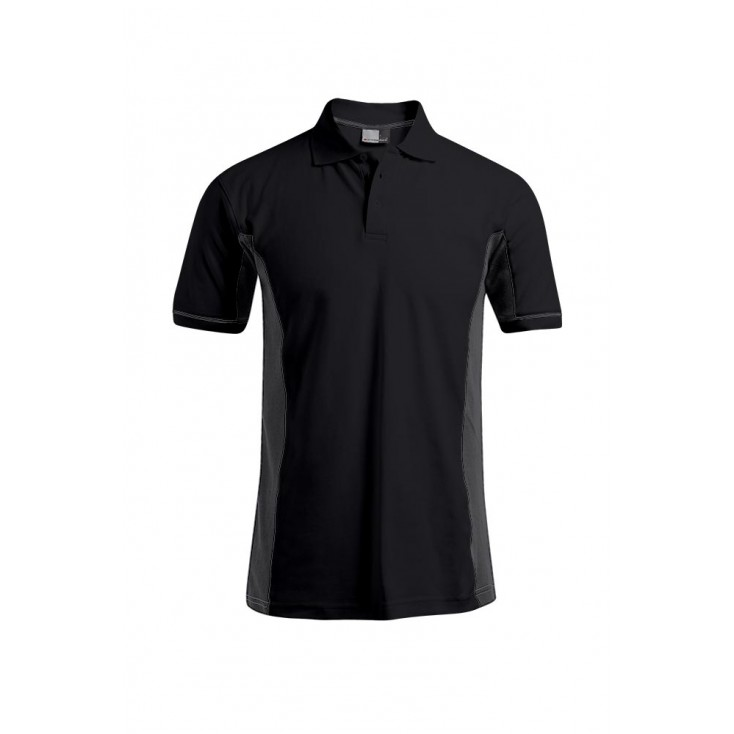 Funktions Kontrast Poloshirt Workwear Plus Size Herren
