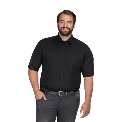 Business Kurzarm-Hemd Workwear Plus Size Herren