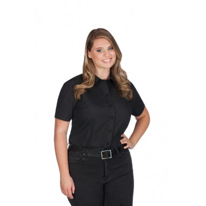 Business Kurzarm-Bluse Workwear Plus Size Damen