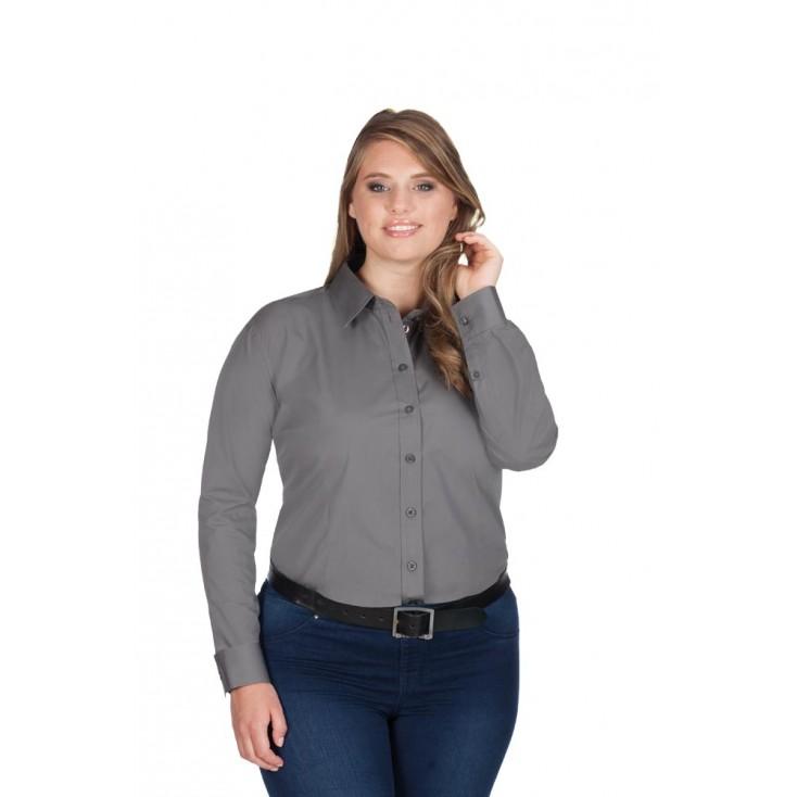 Business Langarm-Bluse Workwear Plus Size Damen