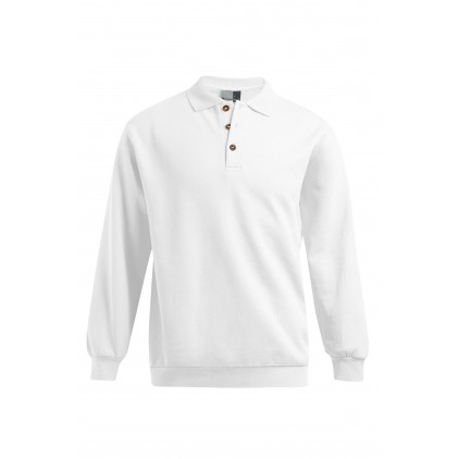 Sweat col polo Grande Taille homme
