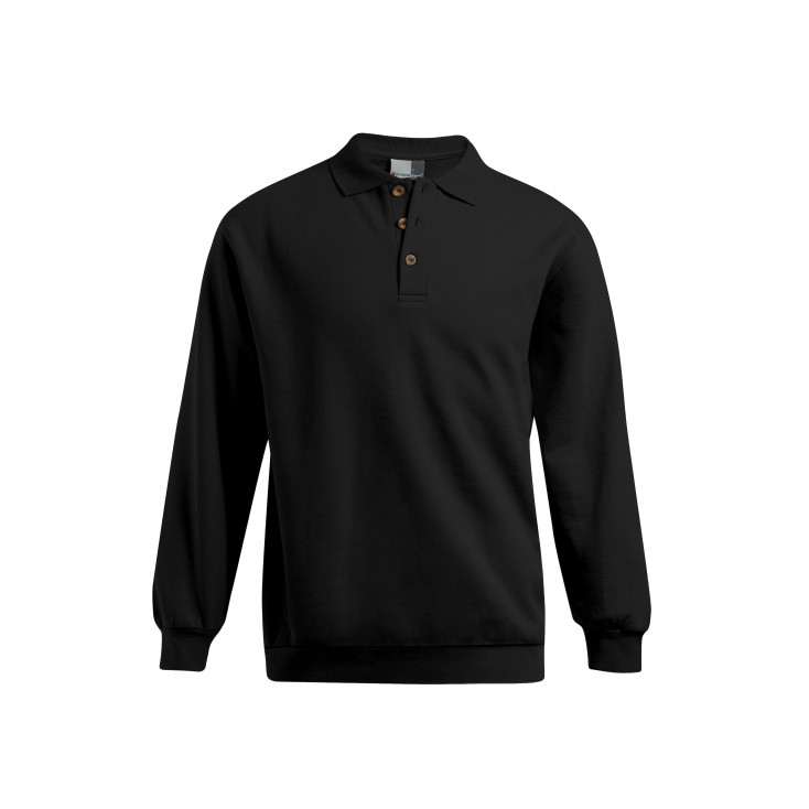 Longsleeve Polo Sweatshirt Workwear Plus Size Men