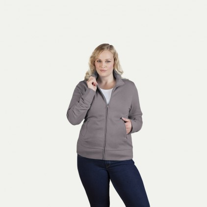Stehkragen Zip Jacke Workwear Plus Size Damen
