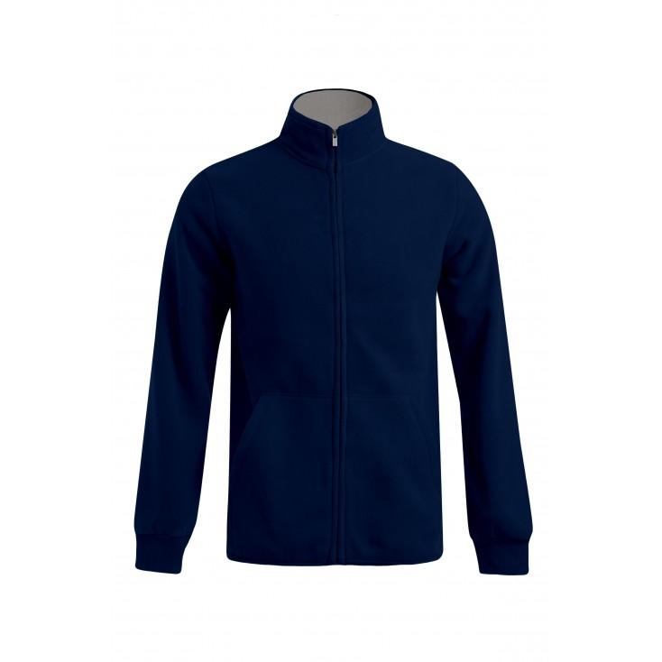 Doppel-Fleece Jacke Workwear Plus Size Herren
