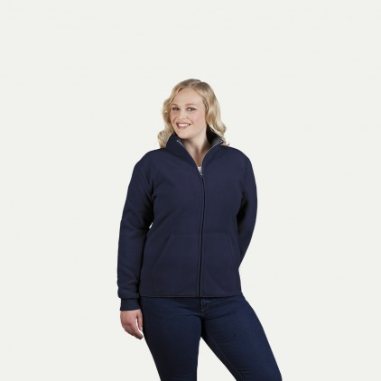 Doppel-Fleece Jacke Workwear Plus Size  Damen