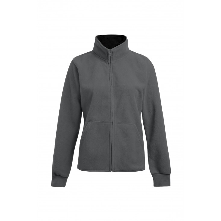 Double Fleece Jacket Workwear Plus Size Women