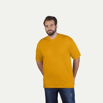Premium V-Ausschnitt T-Shirt Workwear Plus Size Herren