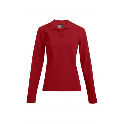 Heavy Longsleeve Polo shirt Workwear Plus Size Women