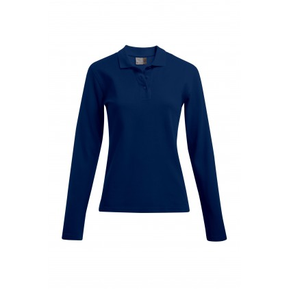 Heavy Langarm-Poloshirt Workwear Plus Size Damen