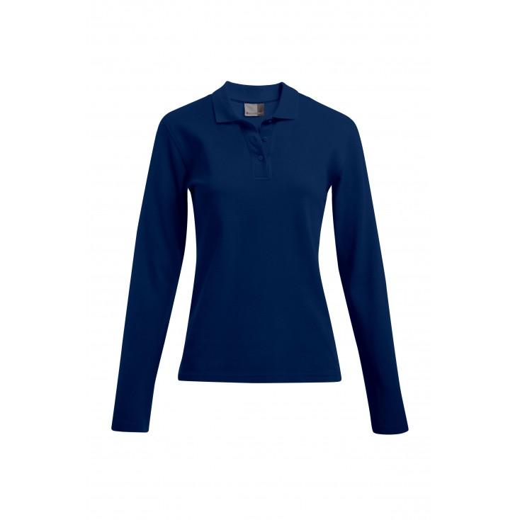 Heavy Langarm-Poloshirt Workwear Plus Size Damen