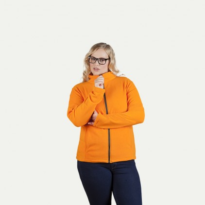 Leichte Fleece Jacke C+ Workwear Plus Size Damen