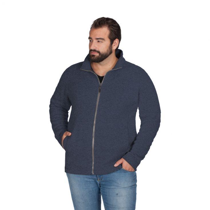 Knit fleece Jacket C+ Plus Size Men