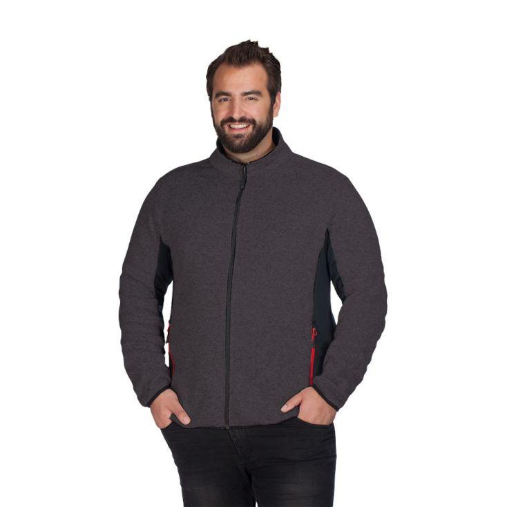 Knit Jacket Workwear Plus Size Men